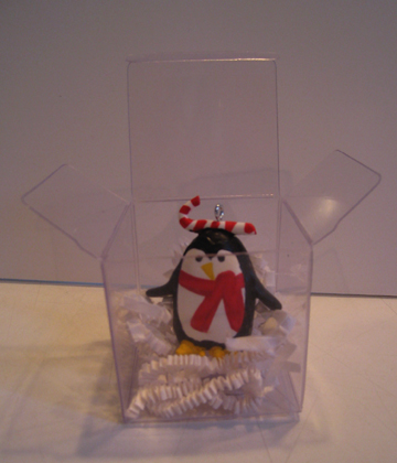 One boxed penguin