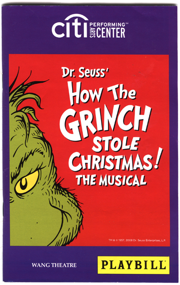 Grinch playbill