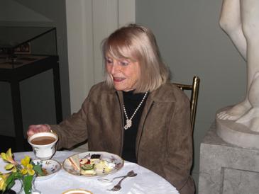 Mom having tea