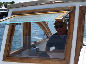 Captain in the window