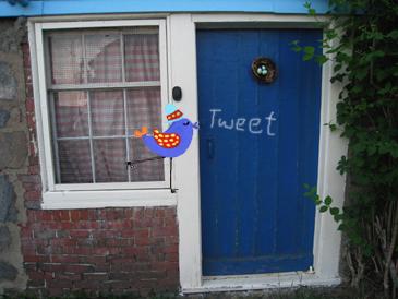 Bird nest door