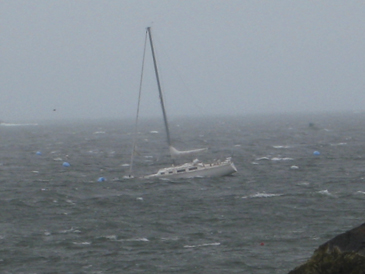 Sailboat in trouble