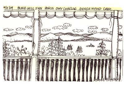 Deck overlooking lake