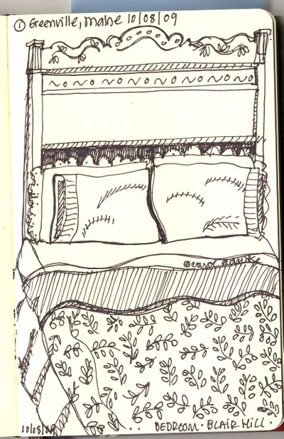 Bed sketch maine
