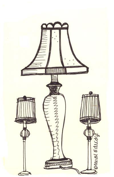 Silk shade lamps