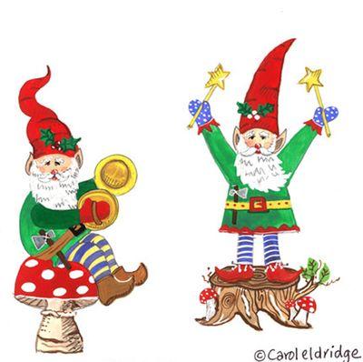 2 mushroom gnomes