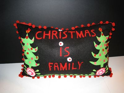 Christmas is family pillow