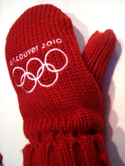 Coveted red olympic mitten