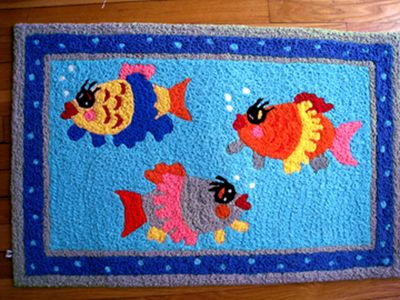 3 fishes rug