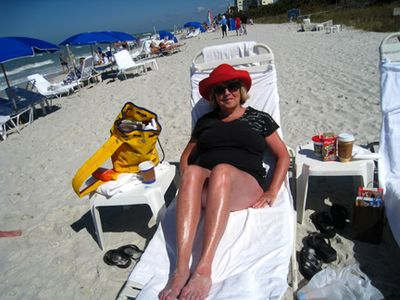 Me on the beach chair