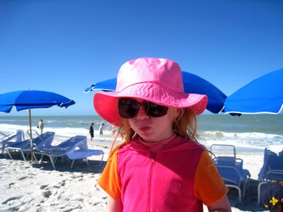 Molly with pink hat