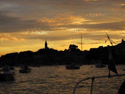 Sunset marblehead harbor