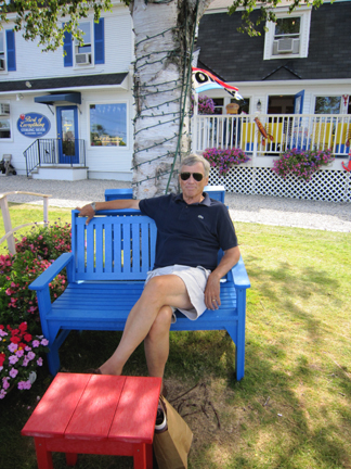 Ken relaxing in maine
