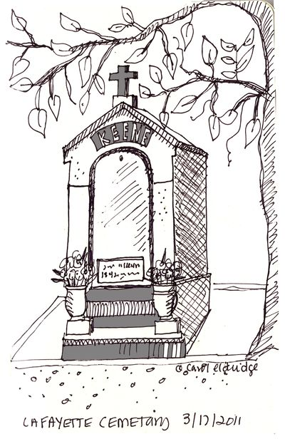 Lafayette cemetary tomb