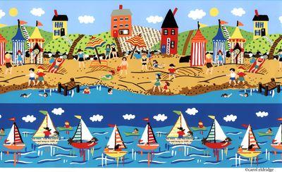Summer village racing boats