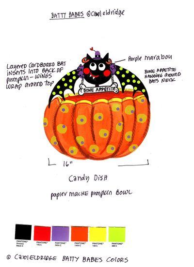 Batty candy dish B