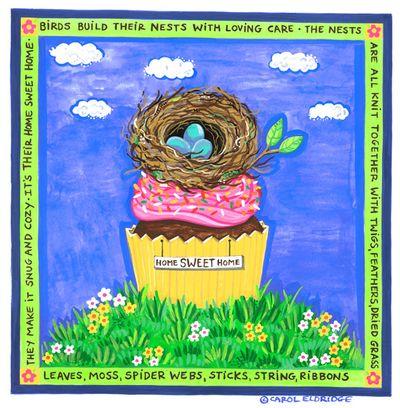 Nest on cupcake