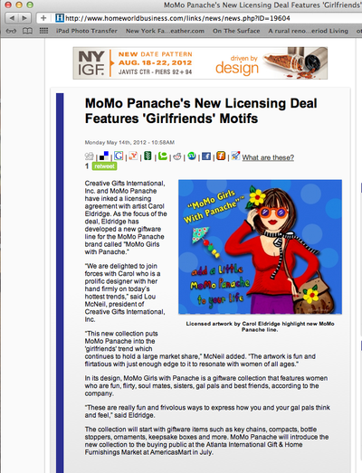 Mo Mo panache press release with hang tag